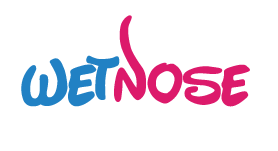wet nose animal shelter logo